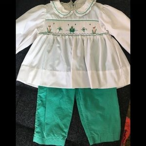 Toddler Smocked Tunic and Baby Soft Cords